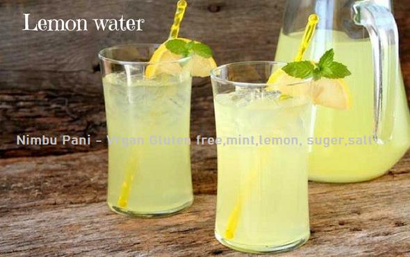 Nimbu Pani - Vrgan Gluten free,mint,lemon, suger,salt